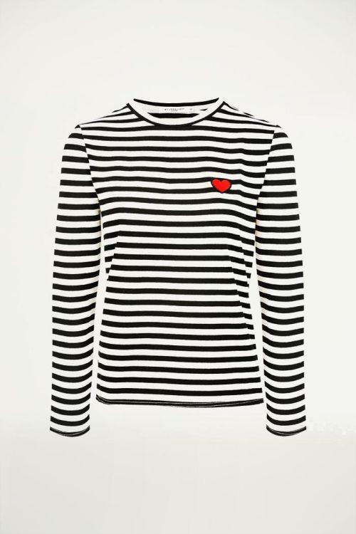 Gestreept oversized shirt, gestreept shirt