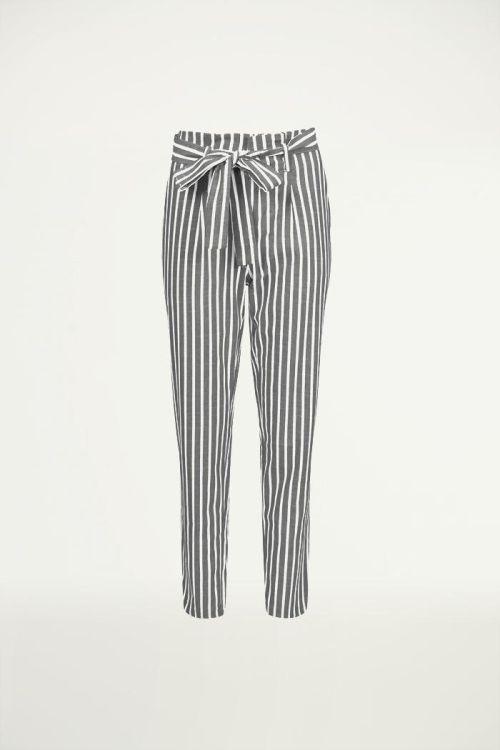 Gestreepte pantalon creme, Broeken