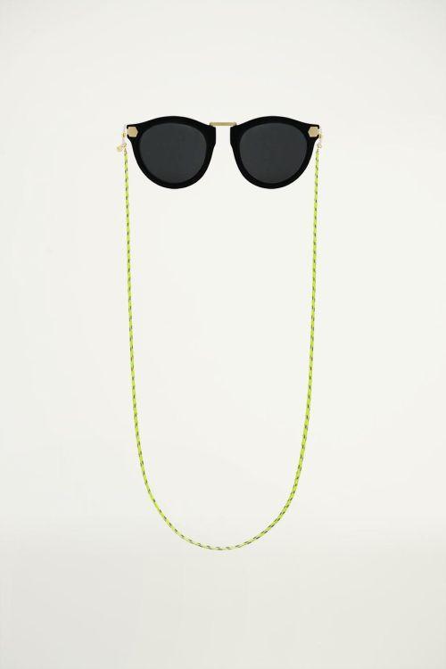 Groen zonnebrilkoord gedraaid touw, groen zonnebrilkoord