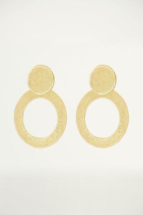 Grote gouden oorringen, statement oorbellen