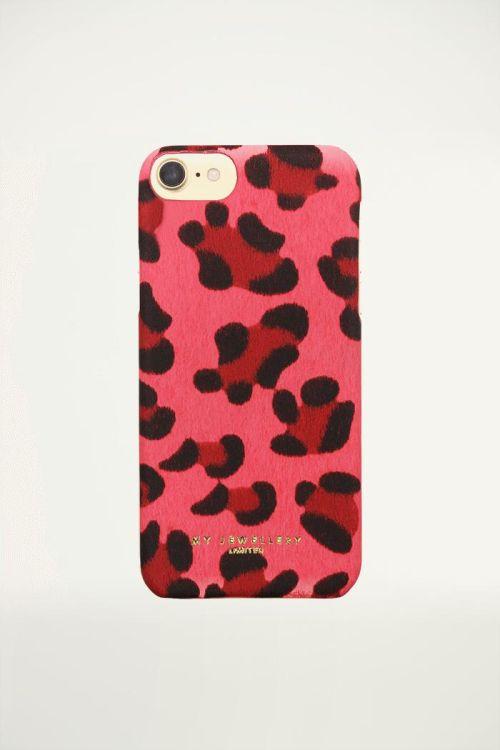 Hardcase telefoonhoes luipaardprint Roze