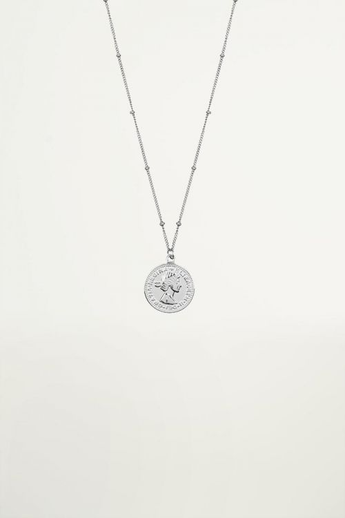 Necklace with coin, Minimalist necklaces