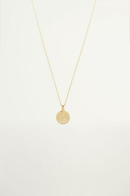 Maan en ster ketting, moon and star necklace