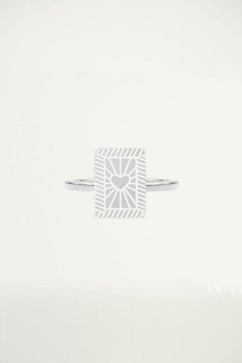Minimalistisch ringetje hartje, Vintage sieraden