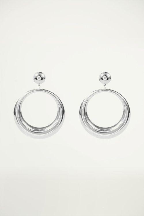 Oorhangers open ring klein, statement oorbellen