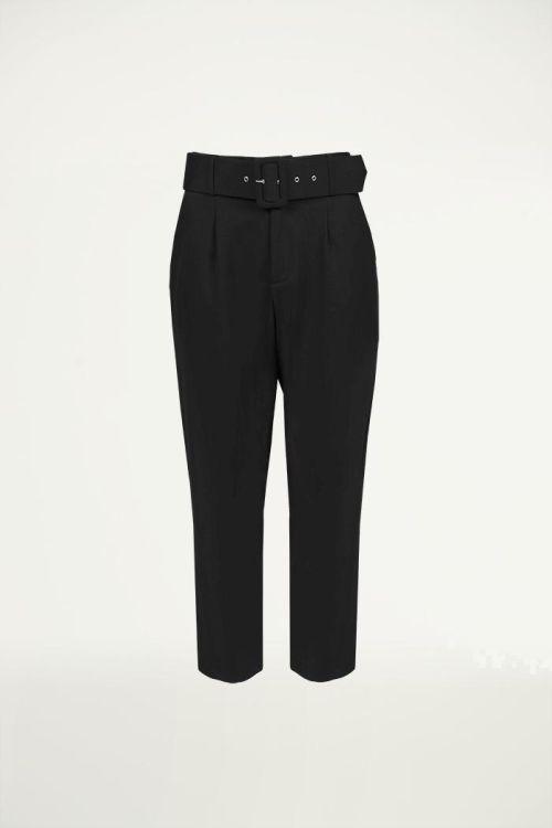 Pantalon zwart met grote riem, Broeken