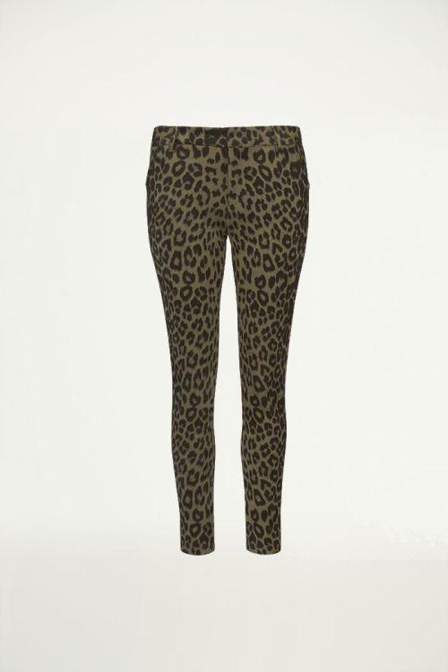 Panterprint broek, pantalon met print