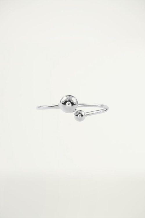 Ring open zilver, Minimalistische Ringen