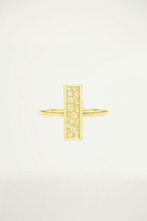 Stalen Ring Bar Roosjes, Minimalistische Ringen