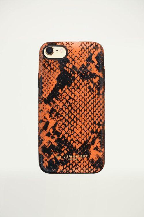 Telefoonhoesje Slangenprint Oranje, iphonehoesje