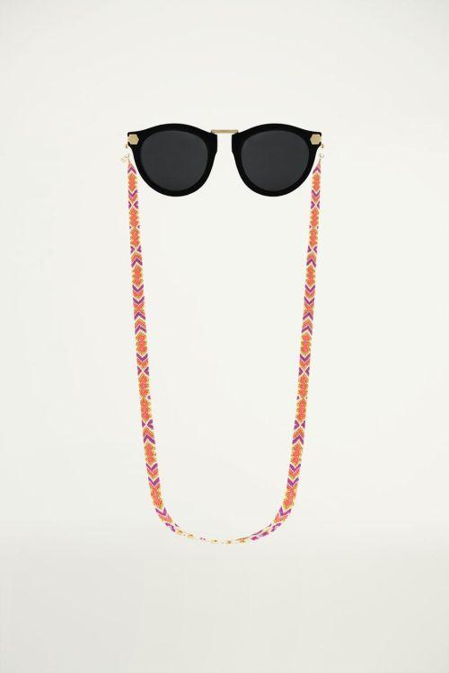 Zonnebrilkoord paars aztec, zonnebrilkoordje
