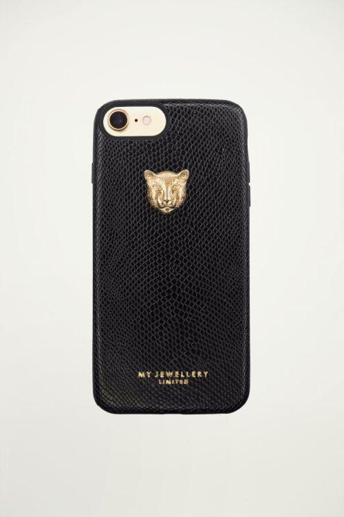 Black leopard phone case, black phone case