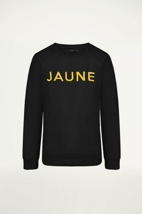 Zwarte sweater met tekst, trui met tekst