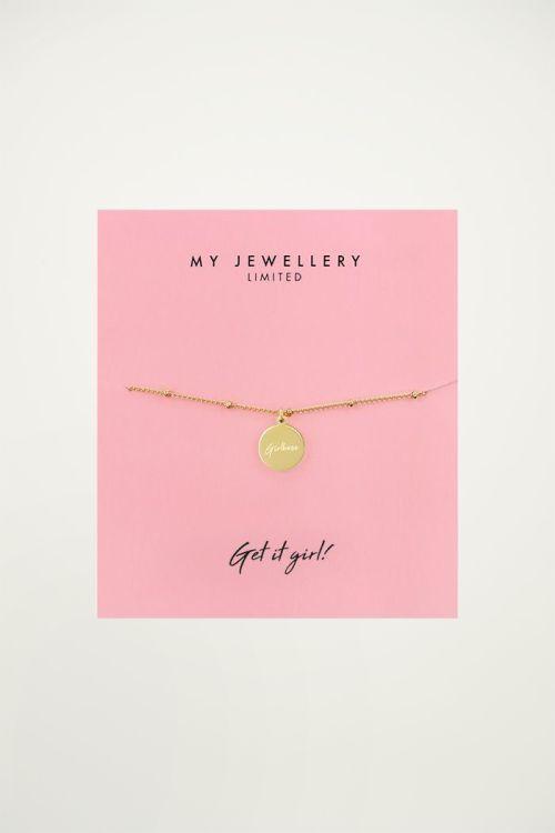 Armband met hangertje Girlboss