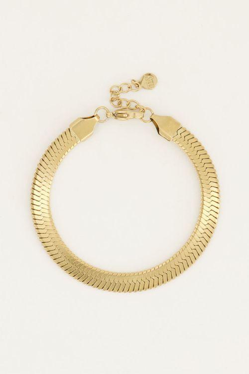 Armband schakels plat | My Jewellery