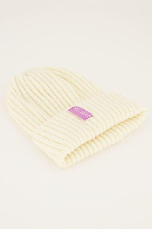 White corduroy hat