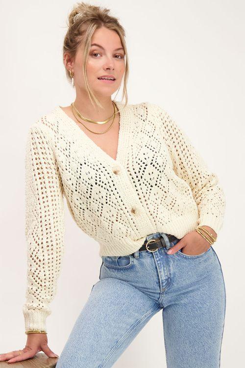 Beige gehaakt vest | vesten | My Jewellery