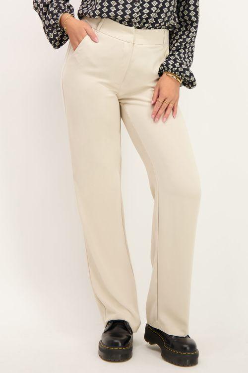 Beige pantalon wijdvallend   Pantalons   My Jewellery