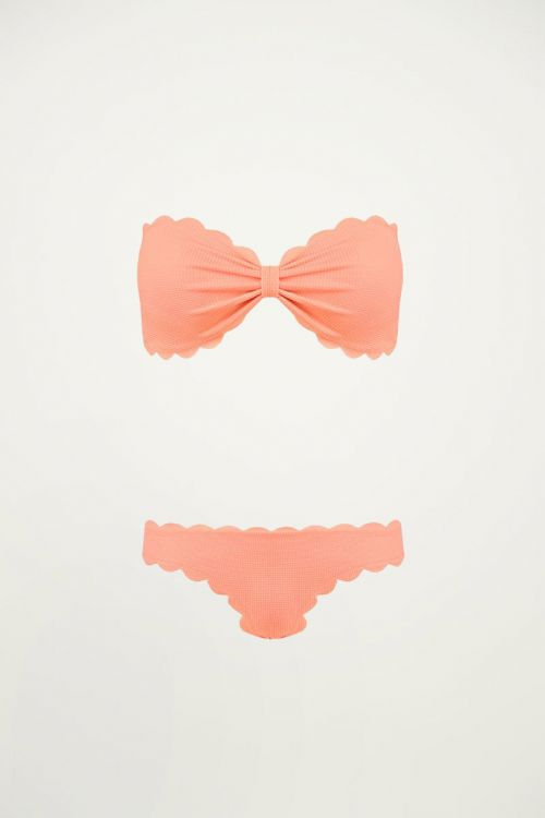 Bikini lichtroze geribbeld, bikini's