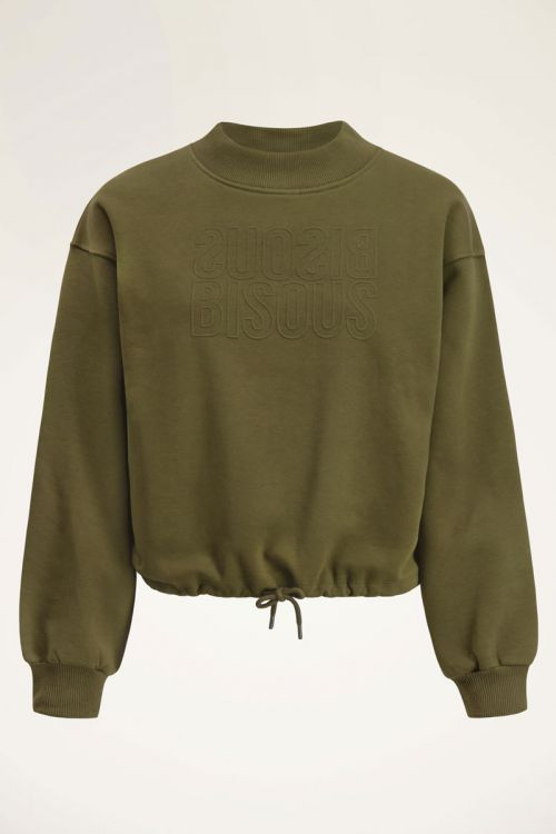 Groene sweater bisous | My Jewellery