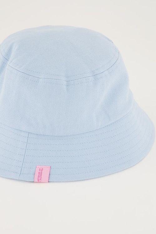 Lichtblauwe bucket hat