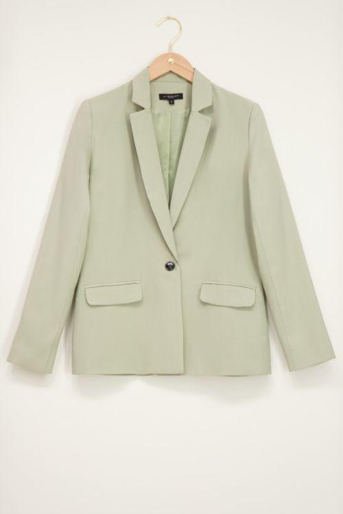 Mint groene blazer