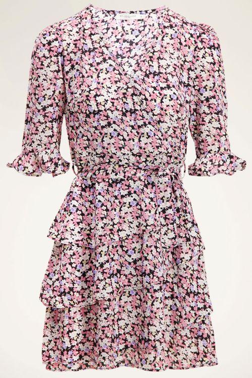 Overslagjurk roze bloemenprint | My Jewellery
