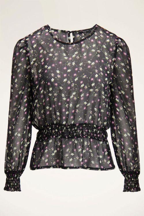 Zwarte blouse met smock | My Jewellery