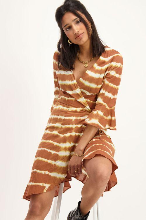 Bruine tie dye dress