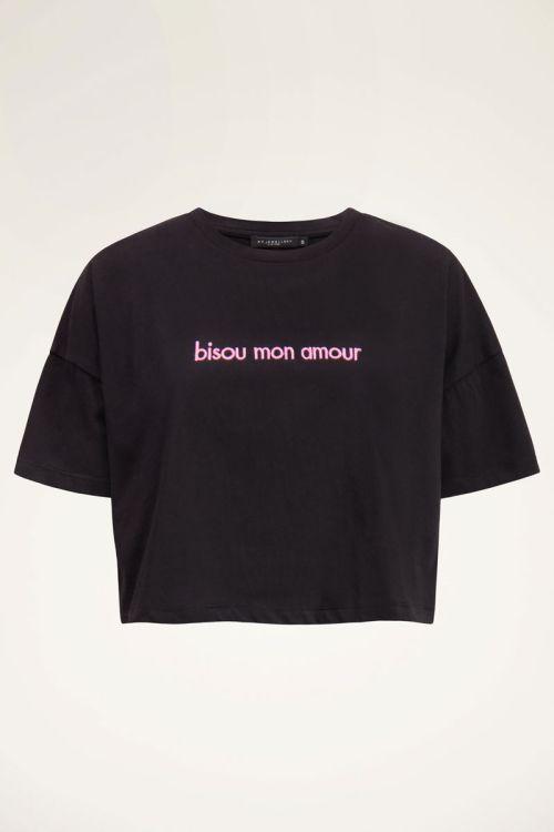 Black crop bisou T-Shirt   My Jewellery