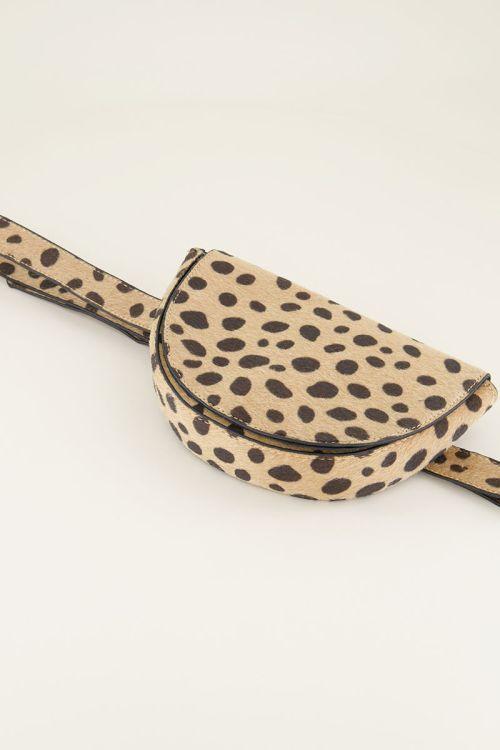 Semi-circle cheetah bum bag, bum bag My Jewellery