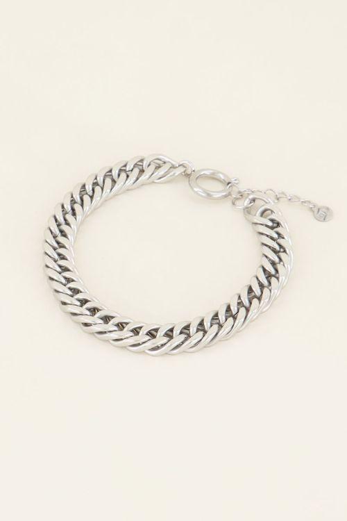 Chain bracelet with circular closure   My Jewellery
