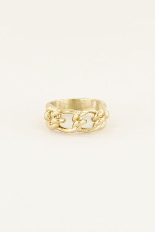 Ring ovale schakels   Ring met schakels My Jewellery