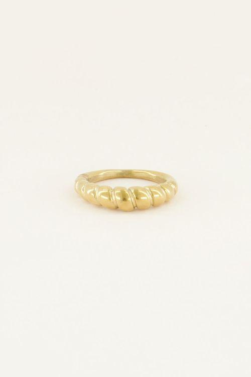 Ring met ribbels | Ring dames | My Jewellery