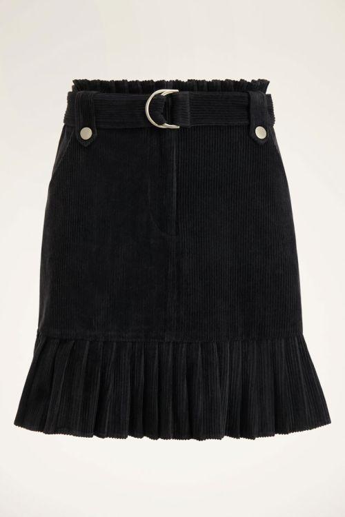 Zwarte rib rok met riem | My Jewellery