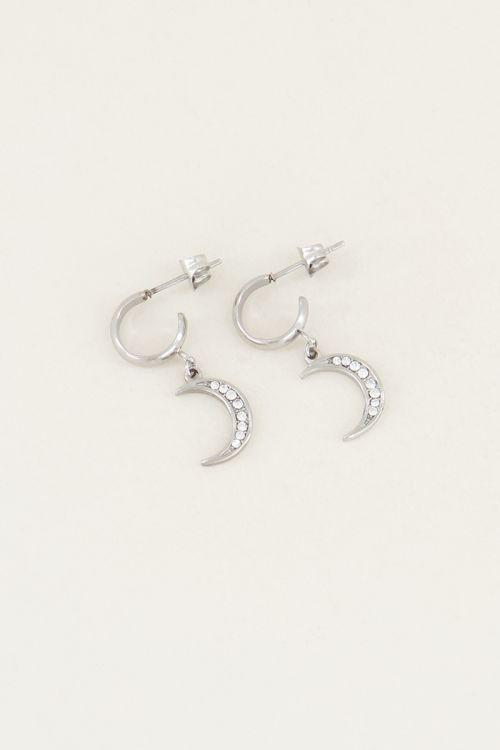 Oorhangers maantje en steentjes | Maantjes oorbellen My Jewellery