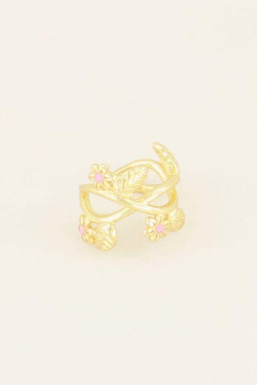 Wildflower ear cuff bloemen & blaadje   Ear cuffs   My Jewellery