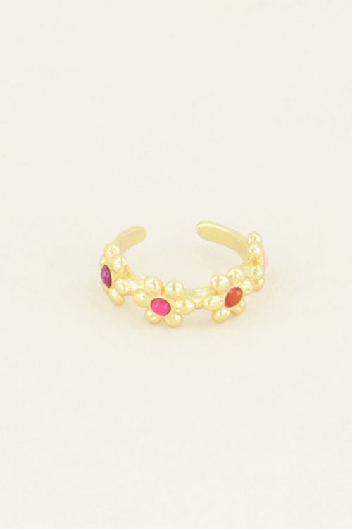 Wildflower ear cuff vier bloemetjes   Ear cuffs   My Jewellery