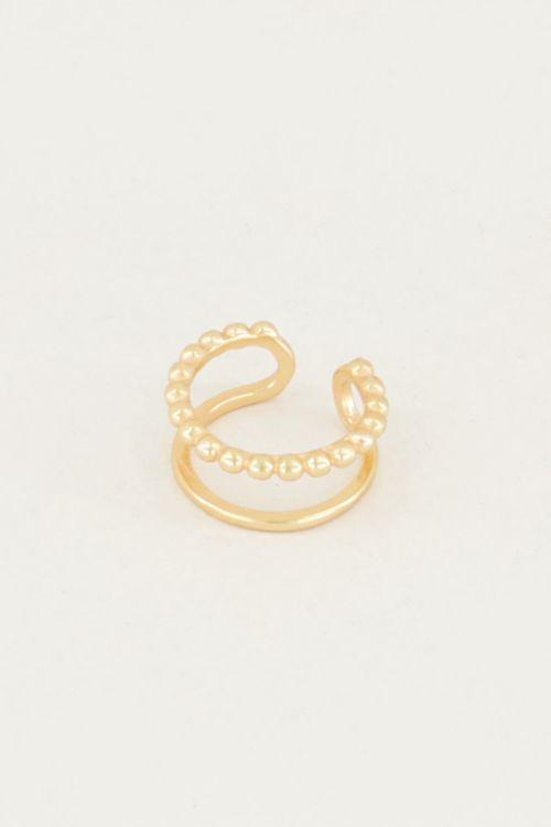 Ear cuff dubbele ring, nep oorbellen