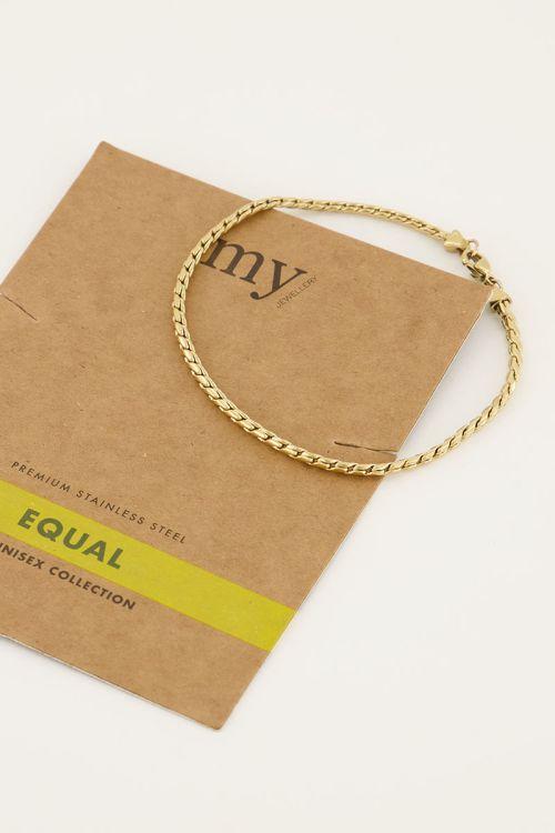 Equal armband schuine schakel | My Jewellery