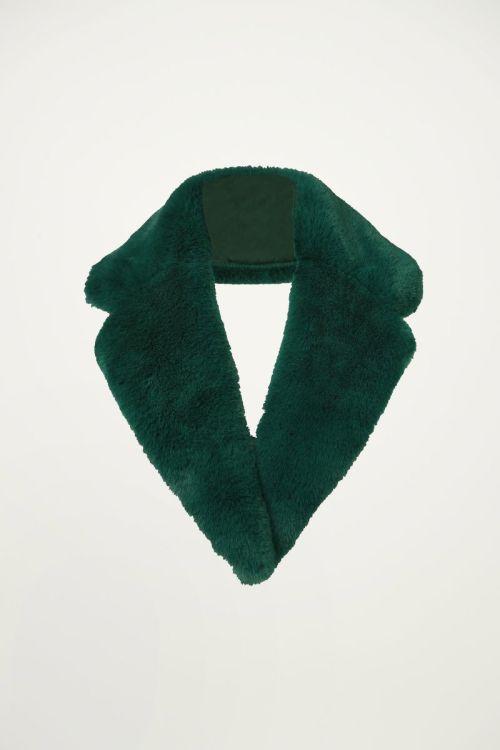 Stola faux fur groen imitatiebont, sjaal