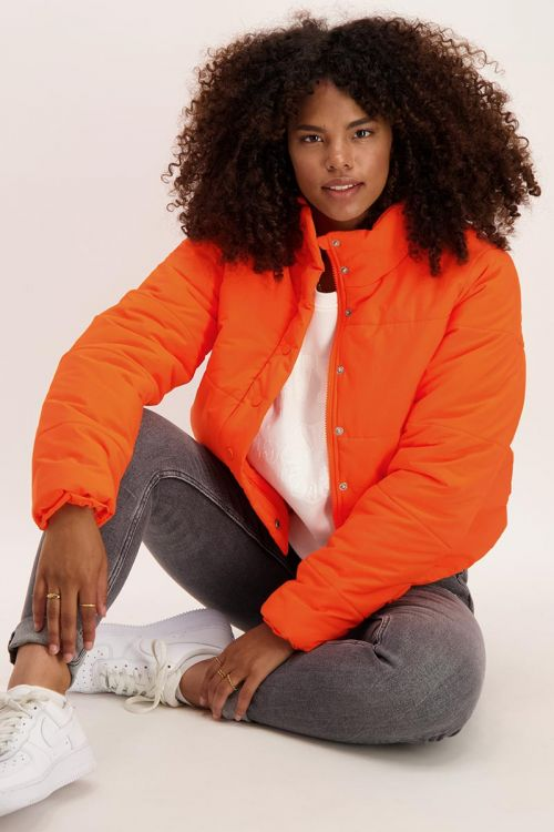 Fel oranje puffer jacket   Jassen   My Jewellery