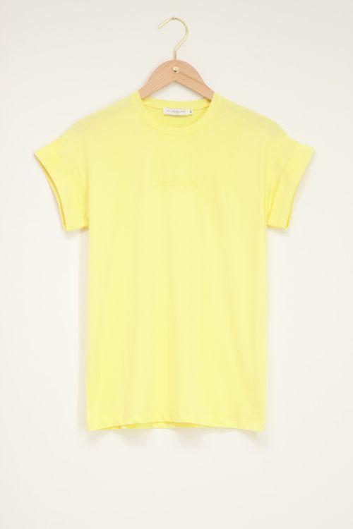 Geel t-shirt très belle
