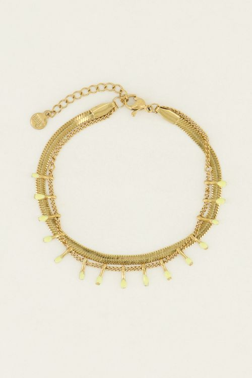 Armband dubbel geel