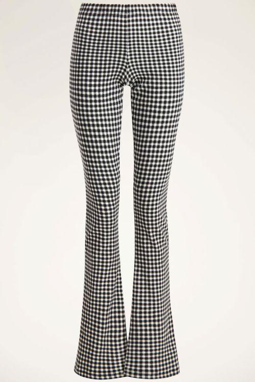 Zwart-witte flared pants met ruitjes | My Jewellery