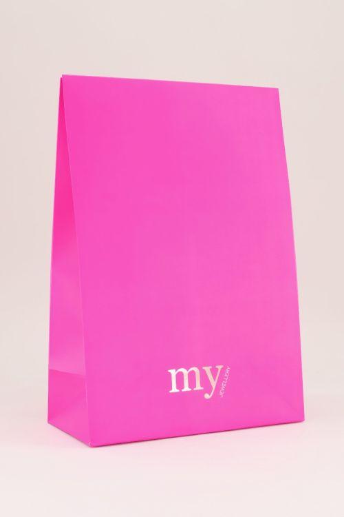 Grote neon roze flapbox My Jewellery