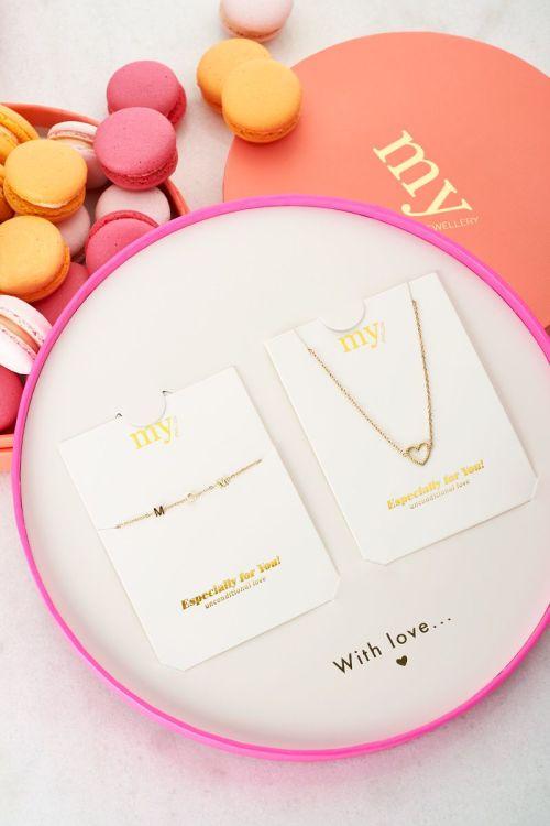 Giftbox mom armbandje & hartjes ketting | My Jewellery