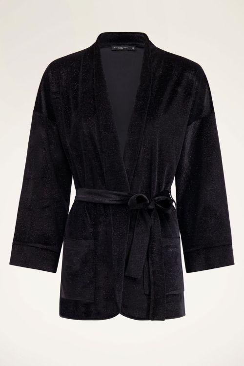 Zwart velvet jasje met glitters | Shop My Jewellery