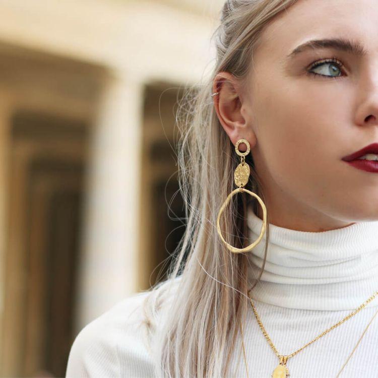 Grote oorbellen vintage stijl, statement oorbellen