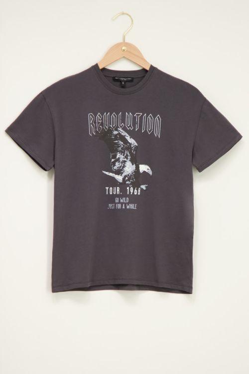 Grijs t-shirt revolution adelaar